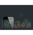 Smartphone briks game vector image