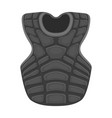 vest baseball baseball single icon in monochrome vector image