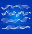 white abstract waves from lines design vector image
