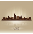 Jackson Mississipi skyline city silhouette vector image