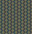 Pattern with squares on a dark blue background vector image vector image