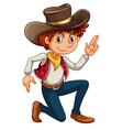 A cowboy vector image