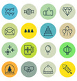set of 16 new year icons includes greeting email vector image