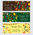 festa junina banner set with space for text vector image
