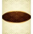 Vintage brown ornament vector image vector image