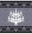 vintage chandelier vector image