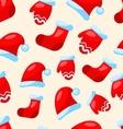Seamless Christmas pattern part Santa costume vector image vector image