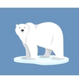 Polar bear standing on ice floe side view vector image vector image