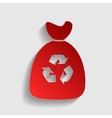 Trash bag sign vector image