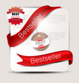 Bestseller Red banners and labels set vector image