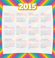 Calendar template 2015 design background vector image