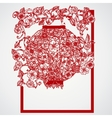 Filigree leaves for paper cutting vector image
