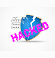 hacker attack data security theme vector image