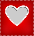 Heart cutout in red card on grey vector image