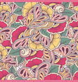 pattern floral hand draw vector image