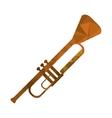 polygon texture trumpet icon vector image