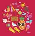 Summer vacations set vector image