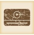 Grungy mediaplayer icon vector image
