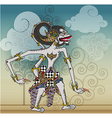 Puppet characters Hanoman the white monkey vector image