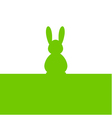 Easter bunny green silhouette vector image