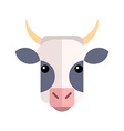 Flat design Cow Farm Animal vector image