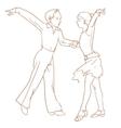 Children dancing couple vector image
