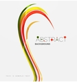 Rainbow color lines on white Identity wave vector image vector image