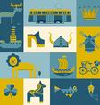 set of symbols Stockholm vector image