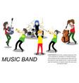 musicians ska reggae group play guitar singer vector image