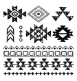 Navajo hand drawn print retro Aztec pattern Trib vector image