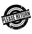 please return rubber stamp vector image
