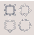 Retro Frame with Place for Text Vintage Decoration vector image