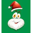 Santa face on green vector image