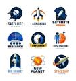 Space Logo Emblems Set vector image