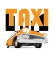 Vintage taxi car cartoon sketch vector image