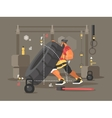 Crossfit workout flat vector image