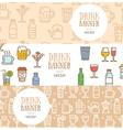 Drink Banner Flyer Horizontal Set vector image