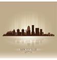 Louisville Kentucky skyline city silhouette Vector Image