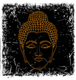 head buddha on grunge background vector image