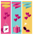 Lovers day banner set vector image