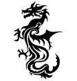 Dragon china zodiac symbols tattoo vector image