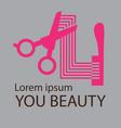 hair salon logo cosmetic salon logo design vector image