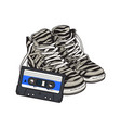 retro style disco attributes - zebra sneakers and
