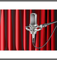 studio microphone against the background vector image