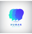 3 human heads faces logo vector image