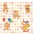 wallpaper with stuffed bear cubs vector image