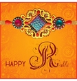 Happy Rakhi greeting card for indian holiday vector image