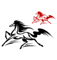 fast running stallion vector image vector image