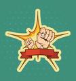 Fist cartoon background vector image