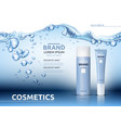 aqua moisturizing cosmetic ads template hydrating vector image